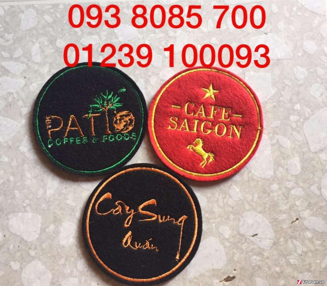 Nơi sản xuất, cung cấp lót ly vải nỉ, lót ly giấy, lót ly nhựa PVC theo yêu cầu 0938085700