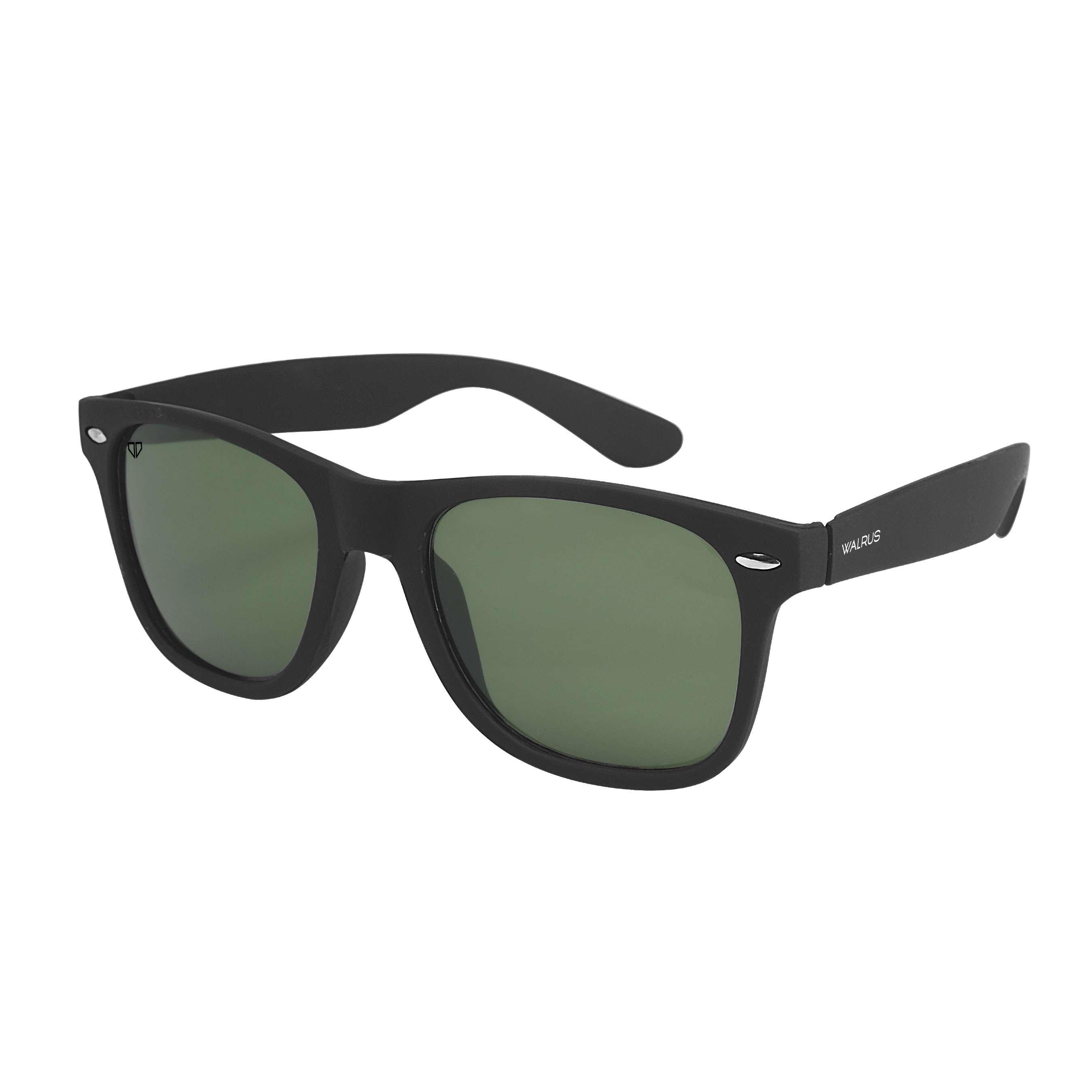 Walrus Urbane Black Color Unisex Wayfarer Sunglass- WS-URB-020202