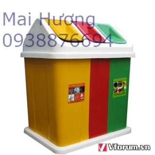 www.123nhanh.com: THÙNG RÁC 3 NGĂN