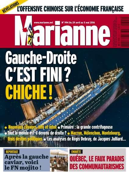 Marianne - 29 Avril au 5 Mai 2016