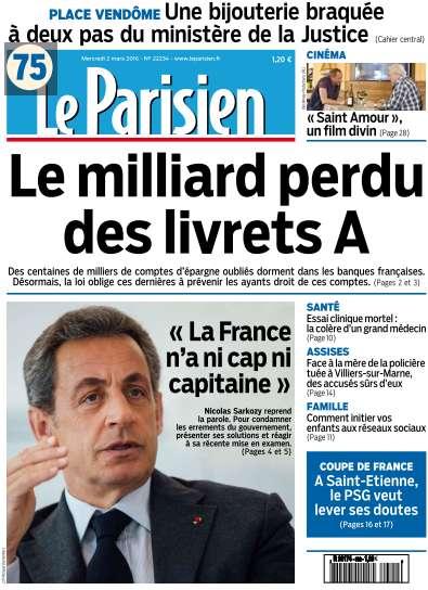 Le Parisien du Mercredi 2 Mars 2016