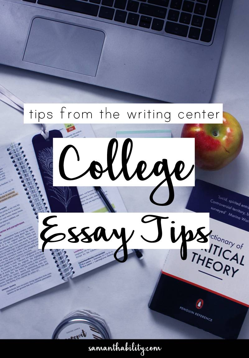 Writing college essays tips