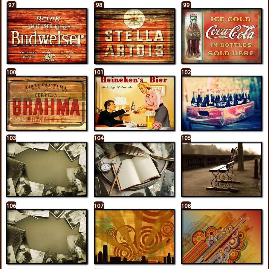 Placas, Vintage, Retro, Cerveja, Decoração, Antigas, MDF, Trabalhadores, Paris, Inglaterra, Cartas, Cabine Telefônica, Quadros Antigos, Pássaros
