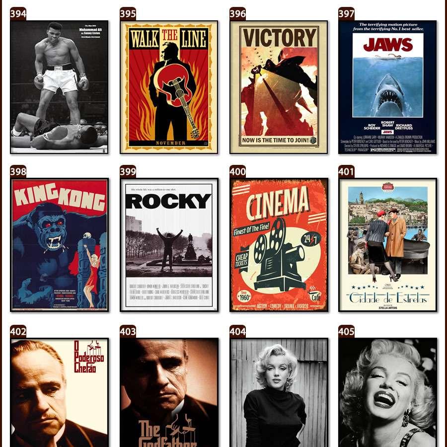 Placas, Vintage, Retro, Cerveja, Decoração, Antigas, MDF, Paris, Eiffel, Brahma, Led Zeppelin, Fiat, We Can Do It, Rock