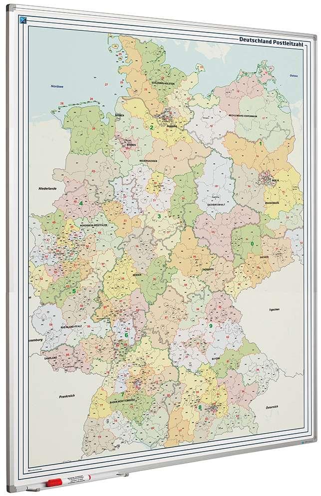 Photo: Landkaart bord Softline profiel 8mm, Duitsland PC