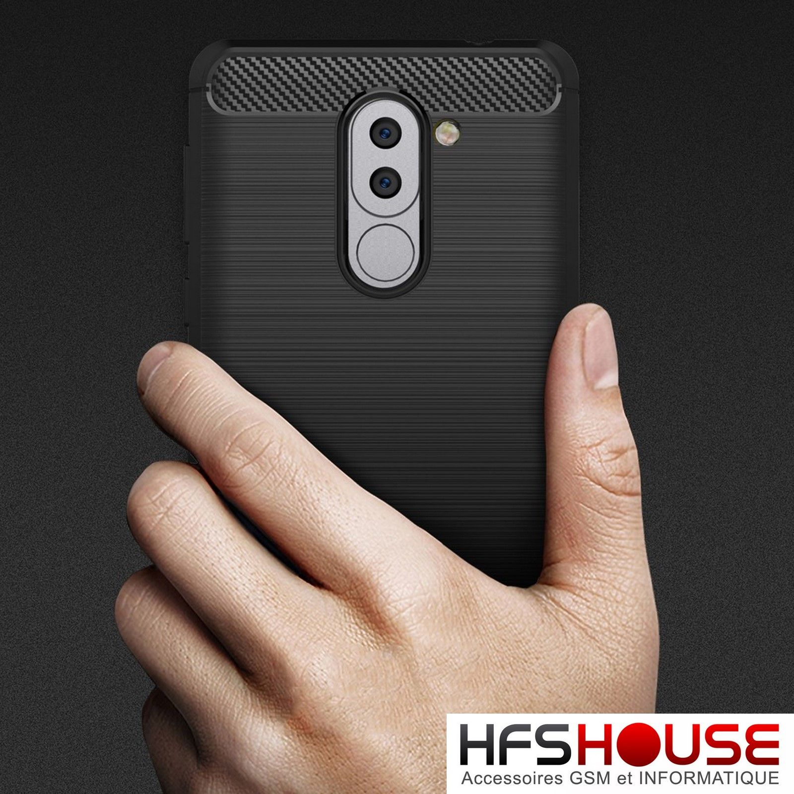 Pour huawei honor 6x carbone coque housse etui silicone for Housse honor 6x