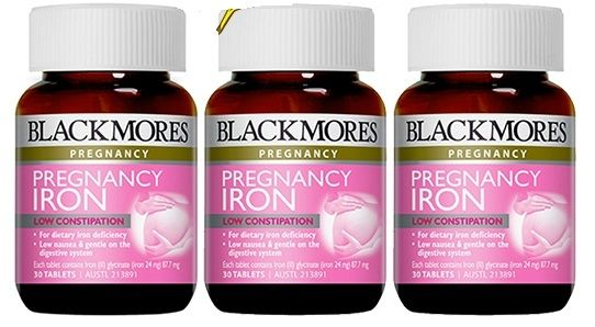 Viên uống bổ sung sắt cho bà bầu Blackmores Pregnancy Iron 267