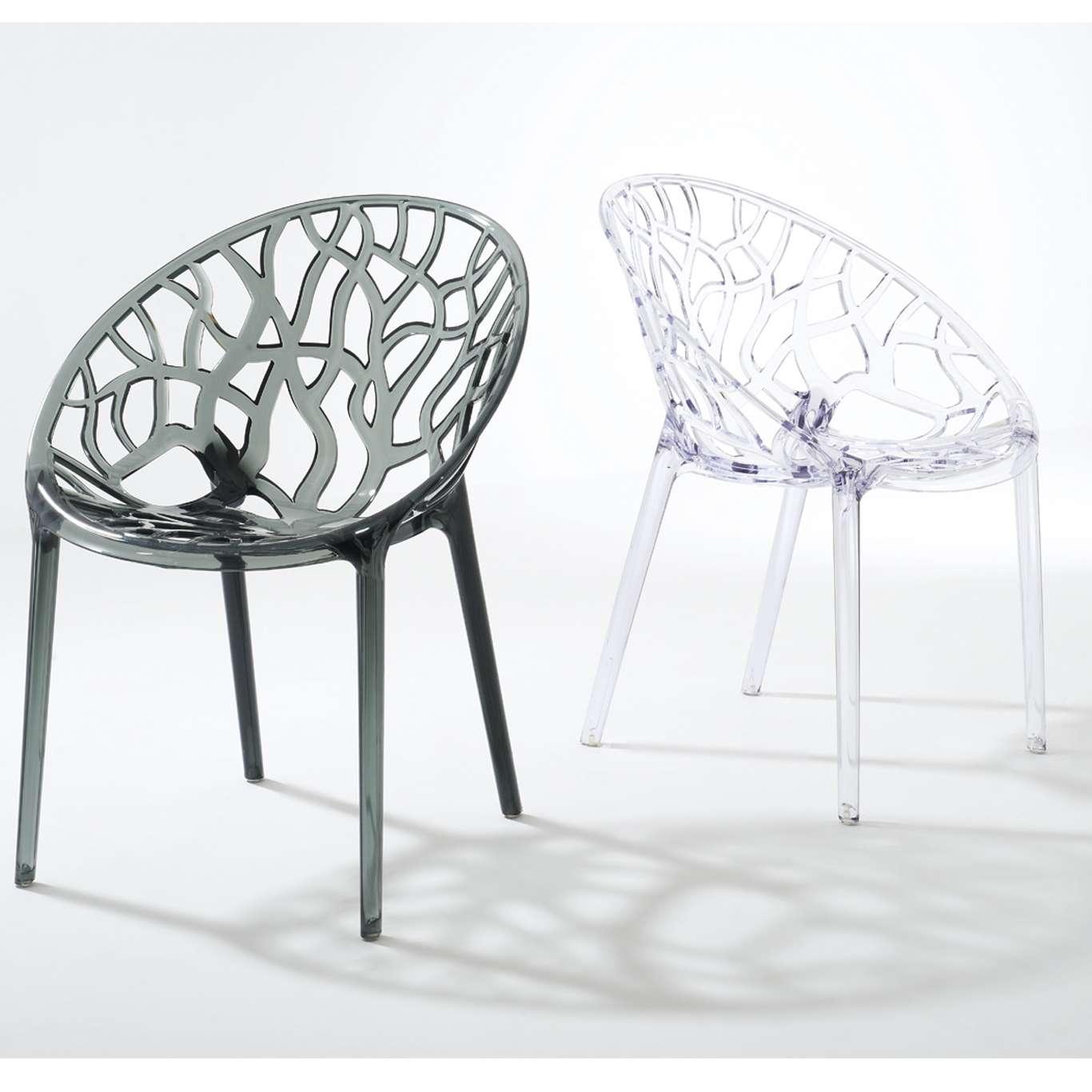 4x sedie policarbonato trasparente sedia design stile - Sedia trasparente kartell ...