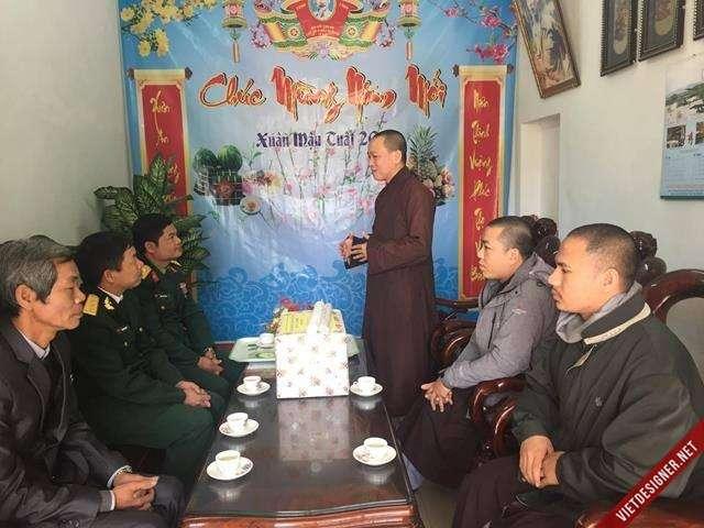 Nam Đông: Ban Trị sự GHPGVN huyện Nam Đông thăm và chúc Tết đến lãnh đạo chính quyền huyện