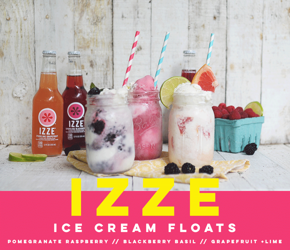 IZZE Sparkling Soda Ice Cream Floats