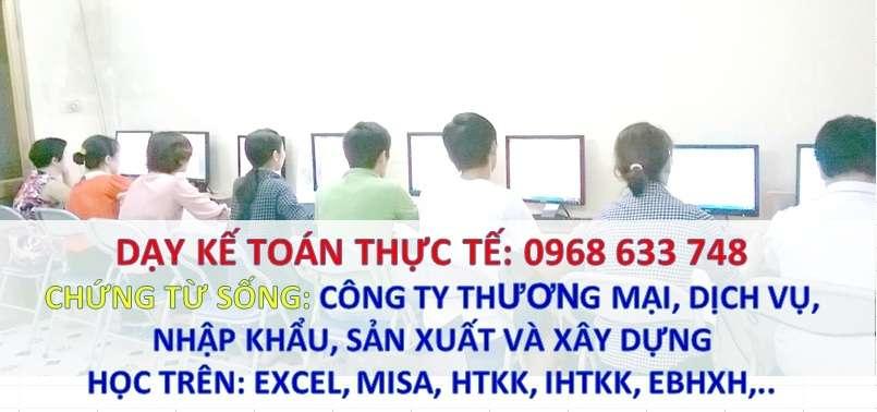 Dạy kèm kế toán thực tế taị nhà ở Đống Đa, Hà Nội