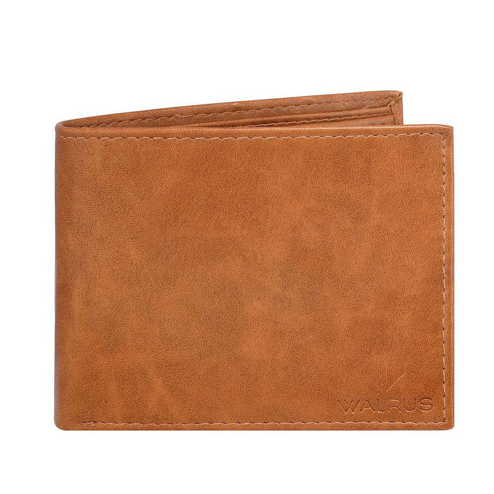 Walrus Logan Brown Color Men Leather Wallet- WW-LGN-09