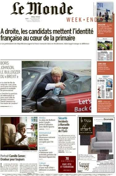 Le Monde du Samedi 11 Juin 2016