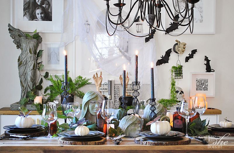 Haunted dining table decor