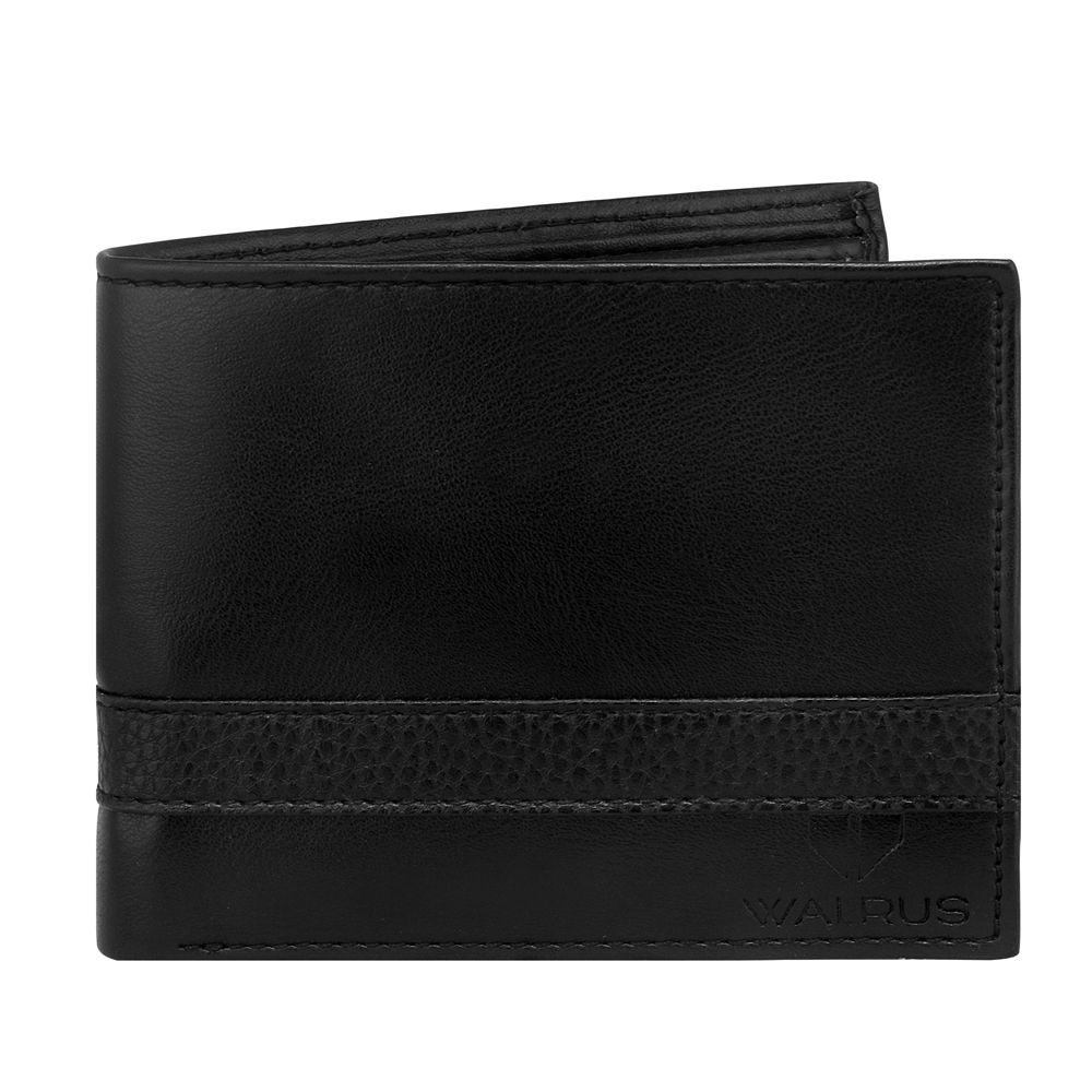 Walrus Levi Black Color Men Leather Wallet- WW-LV-02