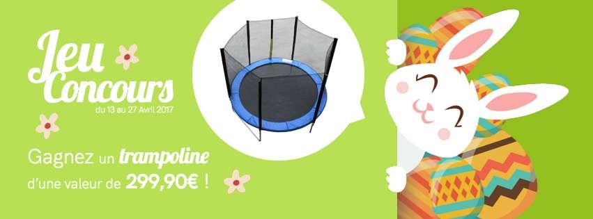Jeu concours Pâques : gagnez un trampoline !