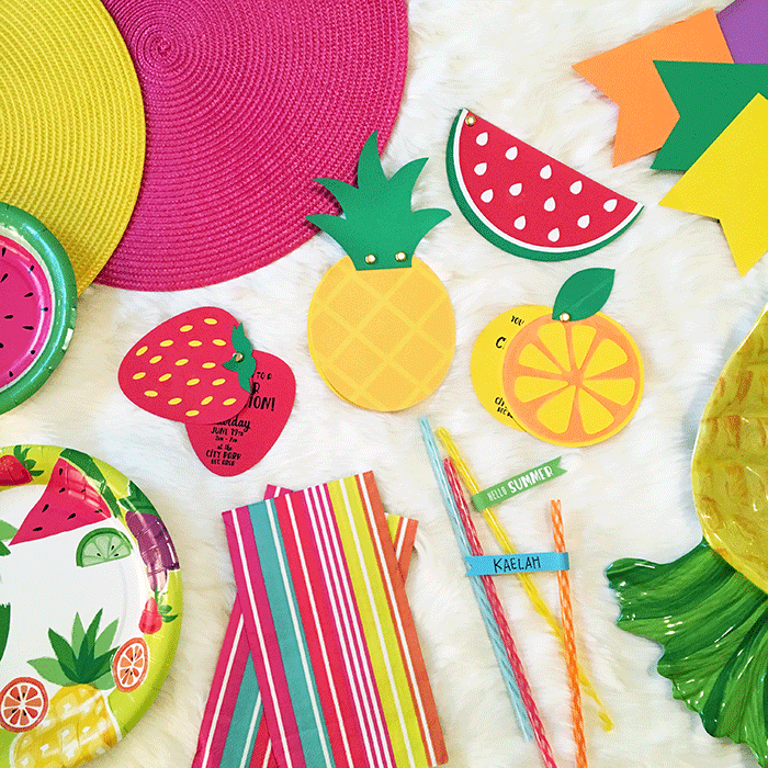 Free DIY Summer Fruit Party Printables // KaelahBee.com