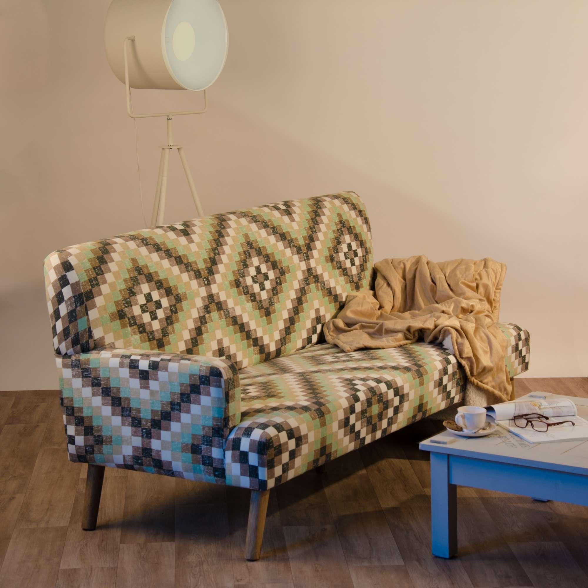 Impressionen Sofa Couch Couchgarnitur Wohnzimmercouch Retrolook Mangoholz Ebay