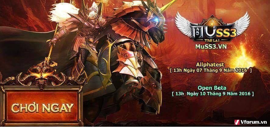 Mu Season 3- Máy Chủ Hoàng Kim - Open Beta 13H Ngày 10/09/2016