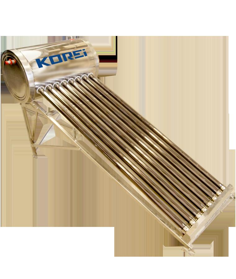 Calentador Solar Korei 200L 5 Personas P/ Tinaco 15 Tubos