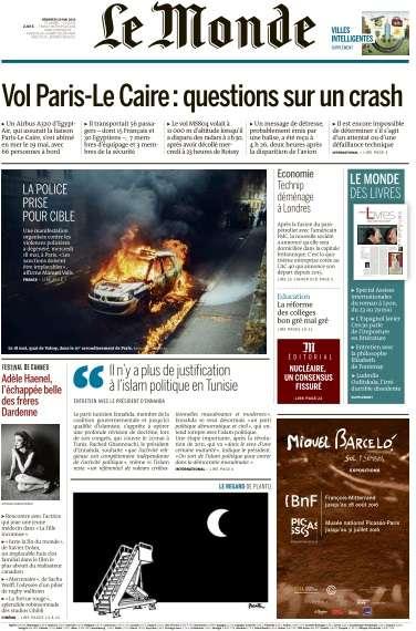 Le Monde du Vendredi 20 Mai 2016