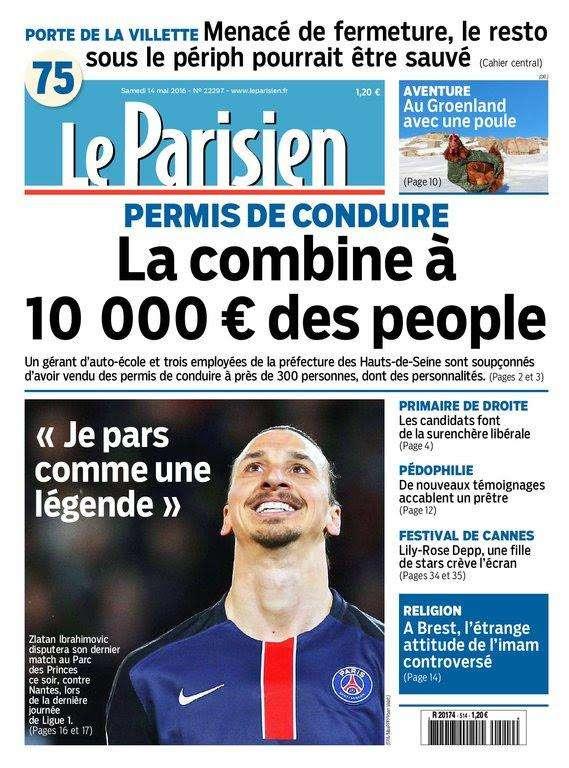 Le Parisien + Journal de Paris du Samedi 14 Mai 2016