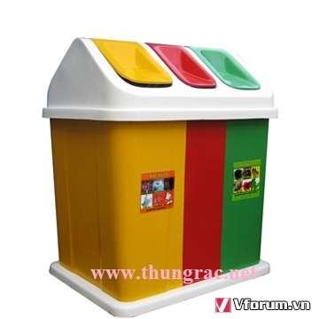 www.mangraovat.com: Thùng rác 3 ngăn - Gia rẻ nhất tại Phước Đạt