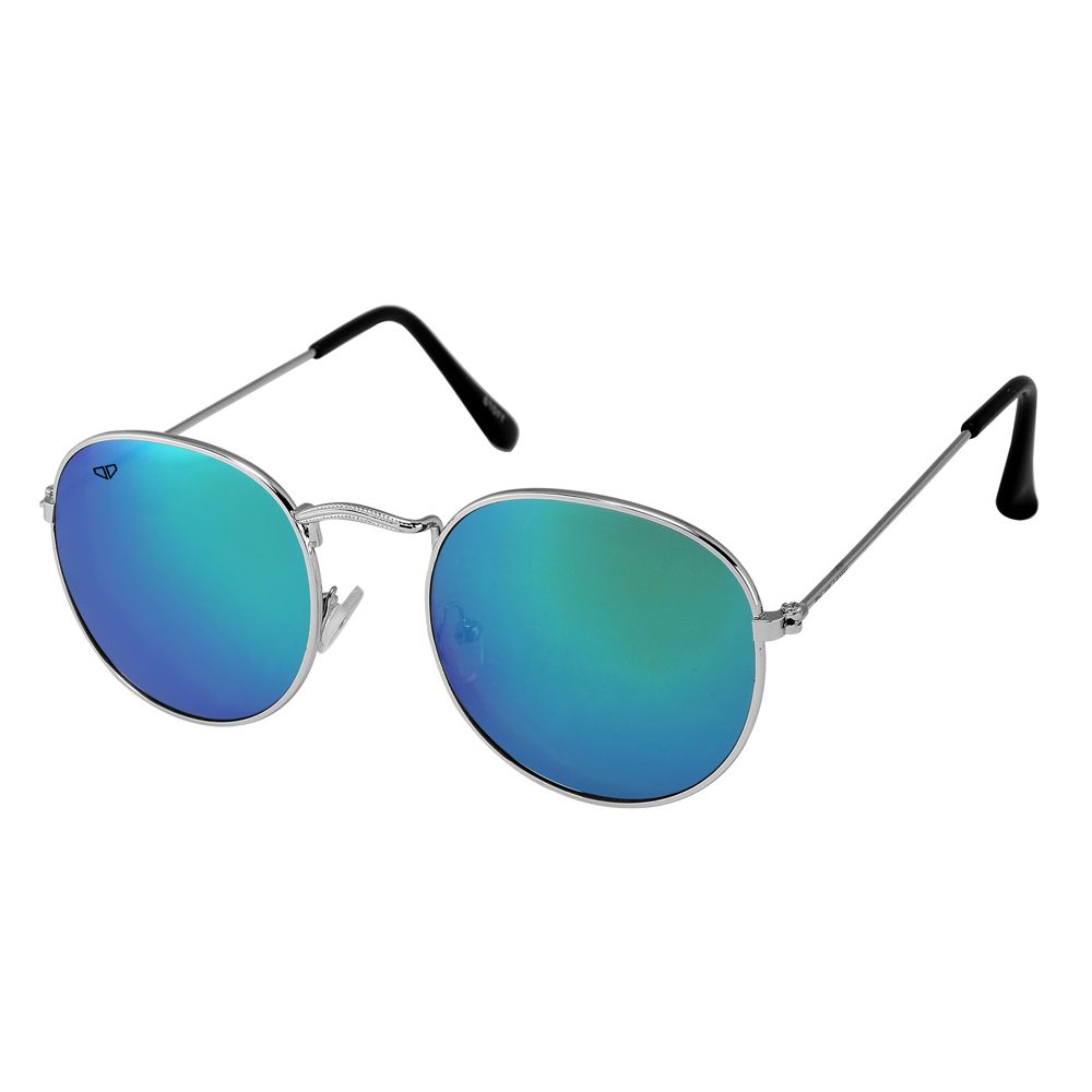 Walrus Royal Blue Mirror Color Unisex Oval Sunglass - WS-RYL-II-210707