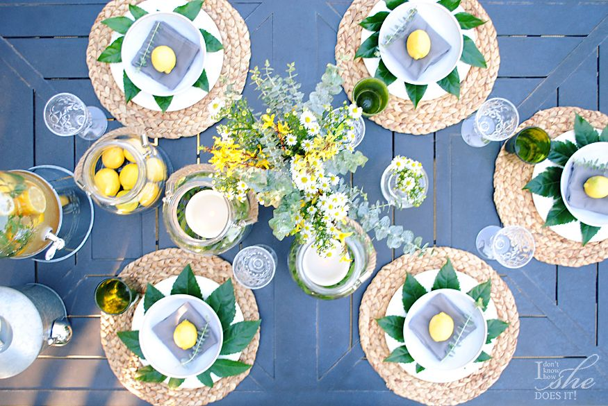 Late spring natural table setting