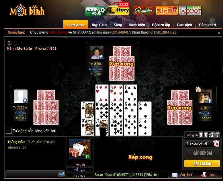 game-mau-binh-xap-xam-online