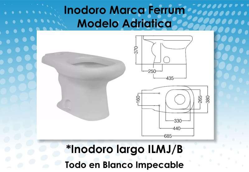 Inodoro largo modelo adriatica marca ferrum ilmj b 3613 for Inodoros ferrum modelos