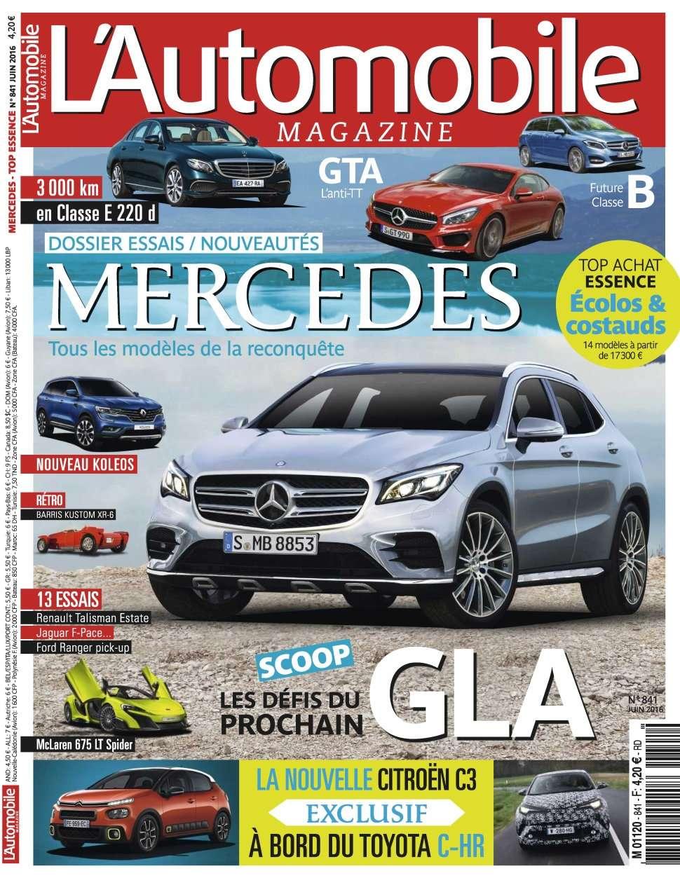 L'Automobile magazine 841 - Juin 2016