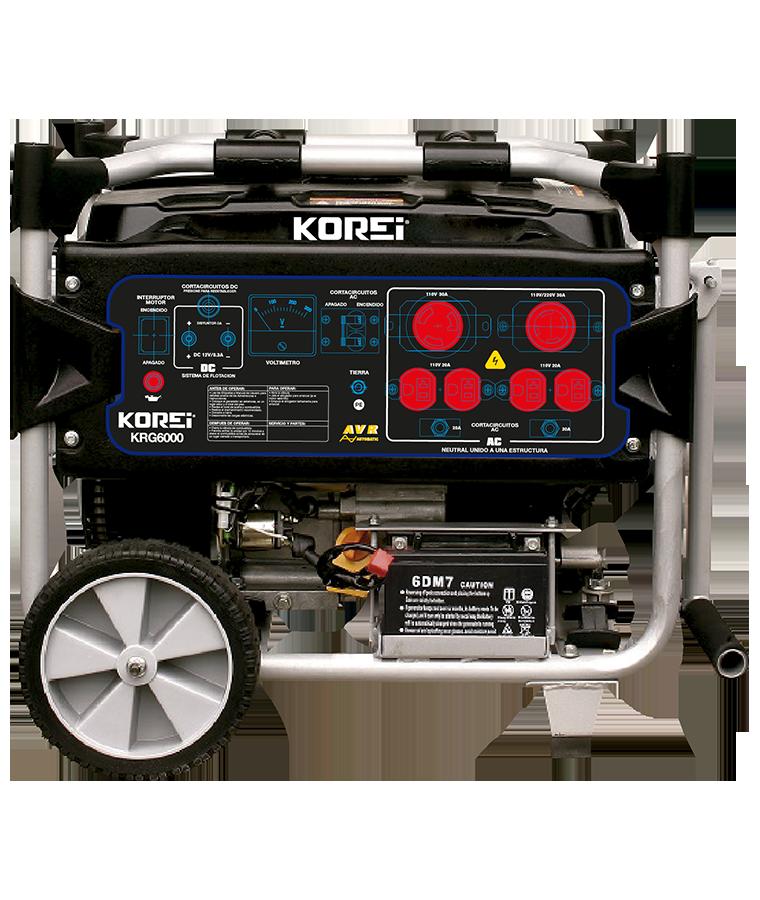 Generador a Gasolina 4 Tiempos Monofásico 6000W