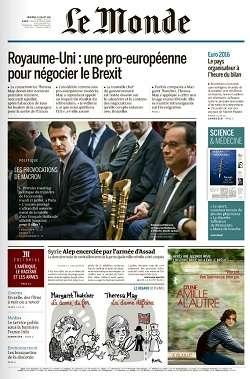 Le Monde du Mercredi 13 Juillet 2016