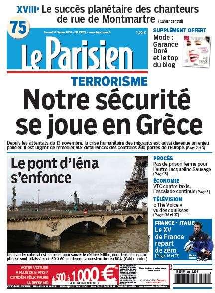 Le Parisien + Journal de Paris du Samedi 6 Février 2016