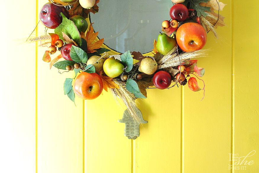 Harvest inspired front door