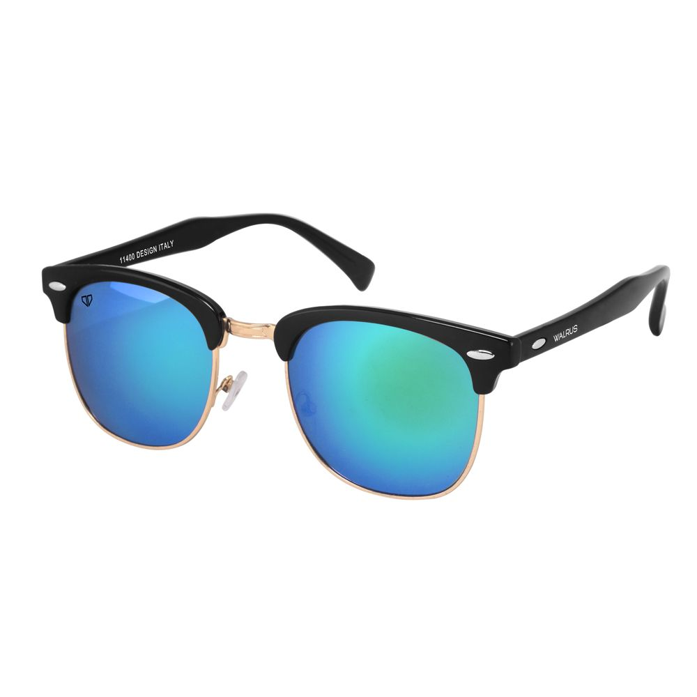 Walrus Michel Multicolor Mirror Color Unisex Wayfarer Sunglass - WS-MCHL-210206
