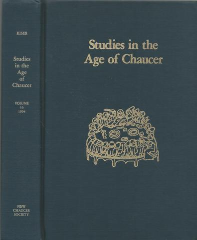 Studies in the Age Chaucer, Vol. 16 (New Chaucer Society)