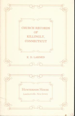 Church Records of Killingly, Connecticut