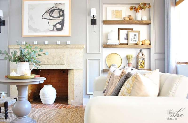 Fall wall shelves