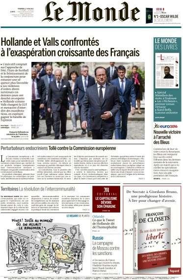 Le Monde du Vendredi 17 Juin 2016