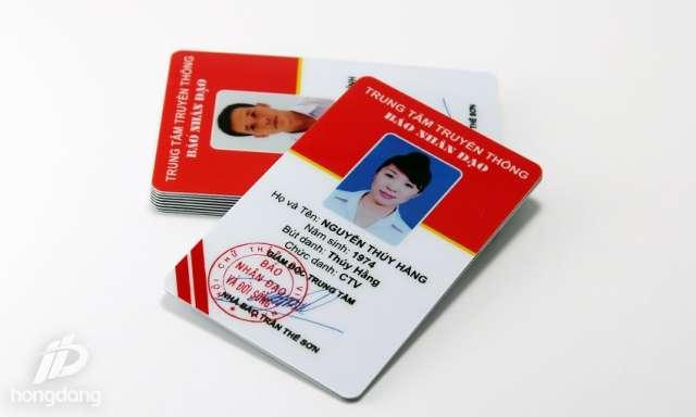Xưởng in thẻ nhân viên Hồng Đăng