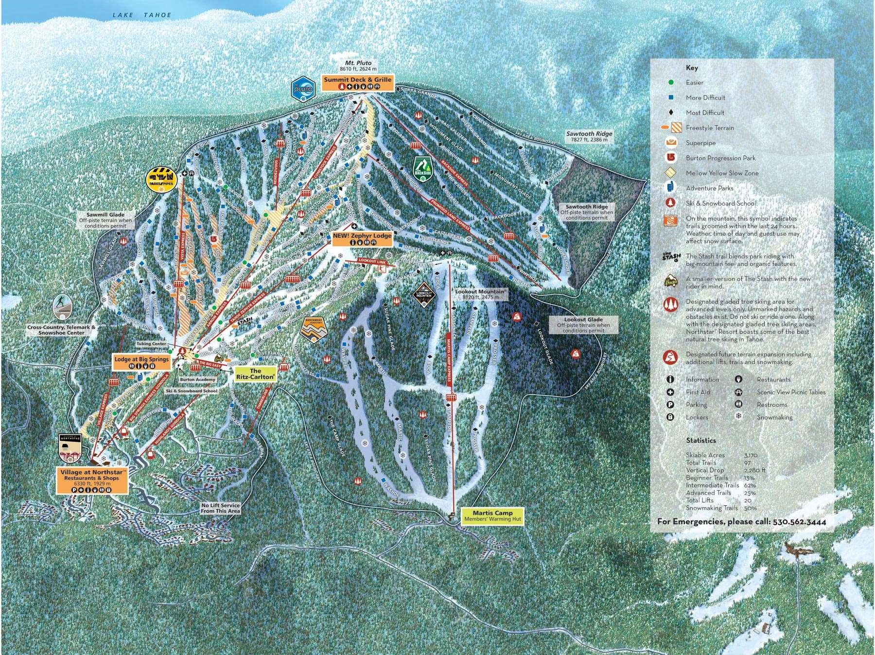 Sierra At Tahoe Trail Map Trail Map Sierra Trailmap Trail Map - Alternate side parking nyc map