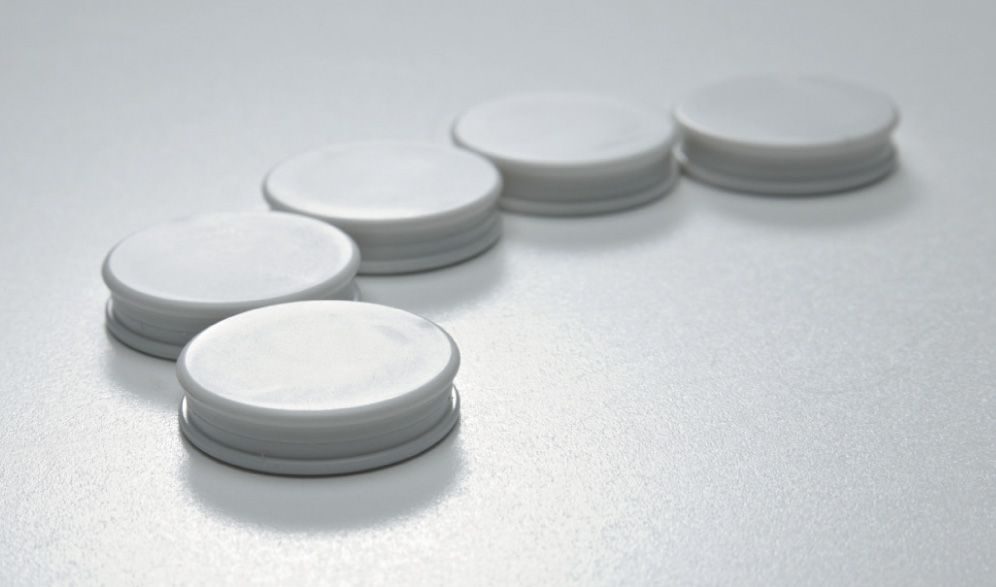 Photo: Glasbordmagneten wit,  extra sterk, 5 stuks