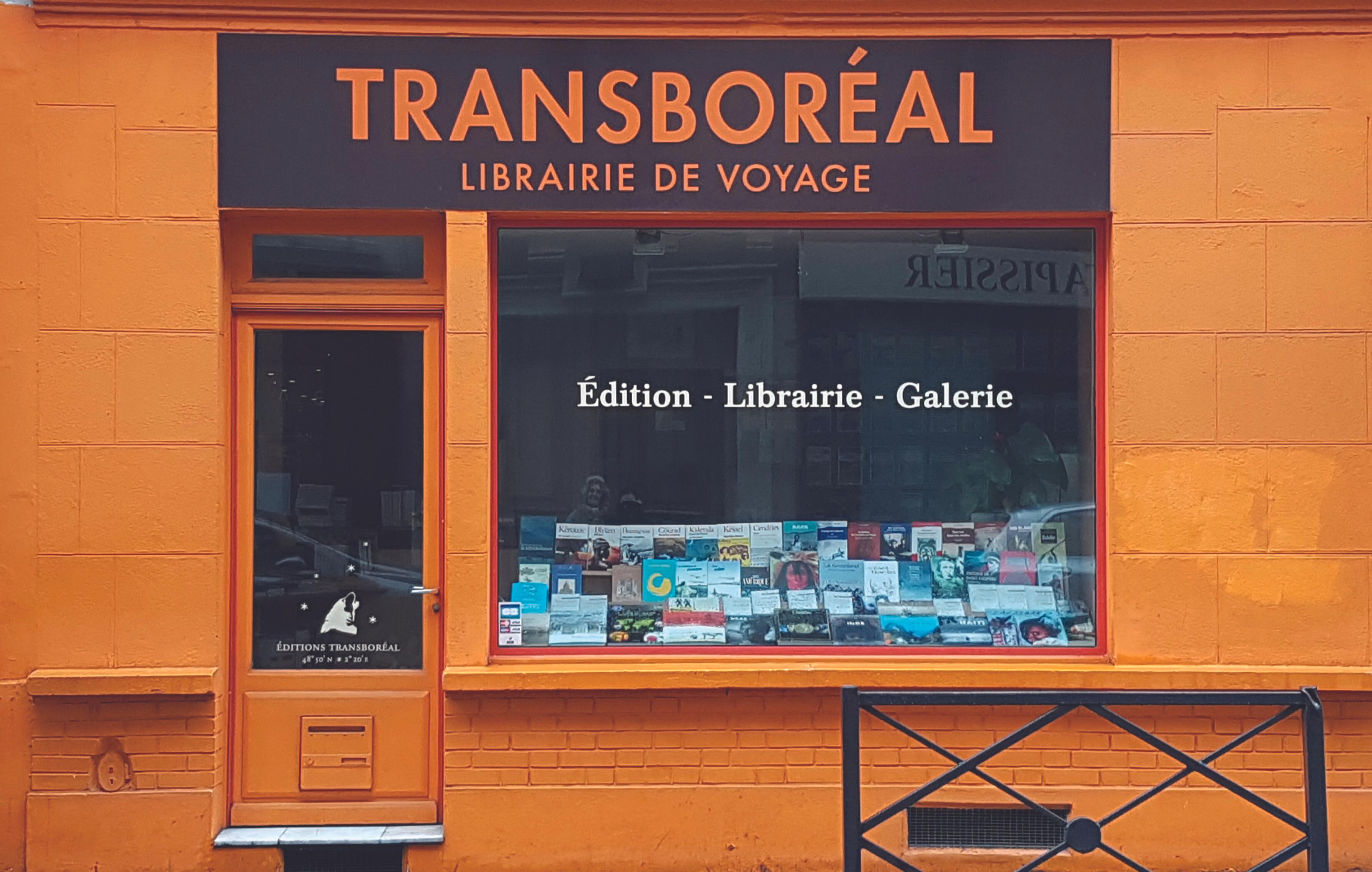 Devanture de la librairie Transboréal