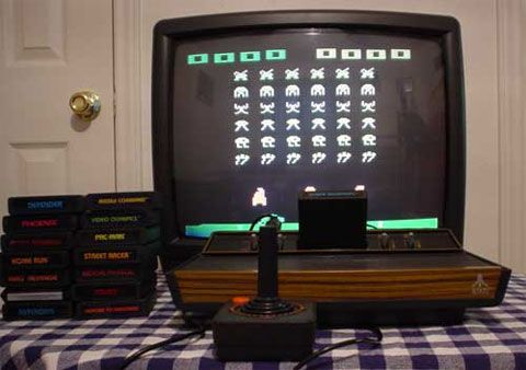 Popularne w tamtych czasach Atari 2600.