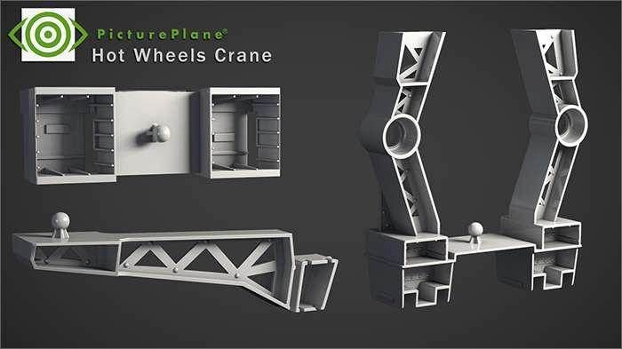 Hot Wheels Crane Set Apart 2