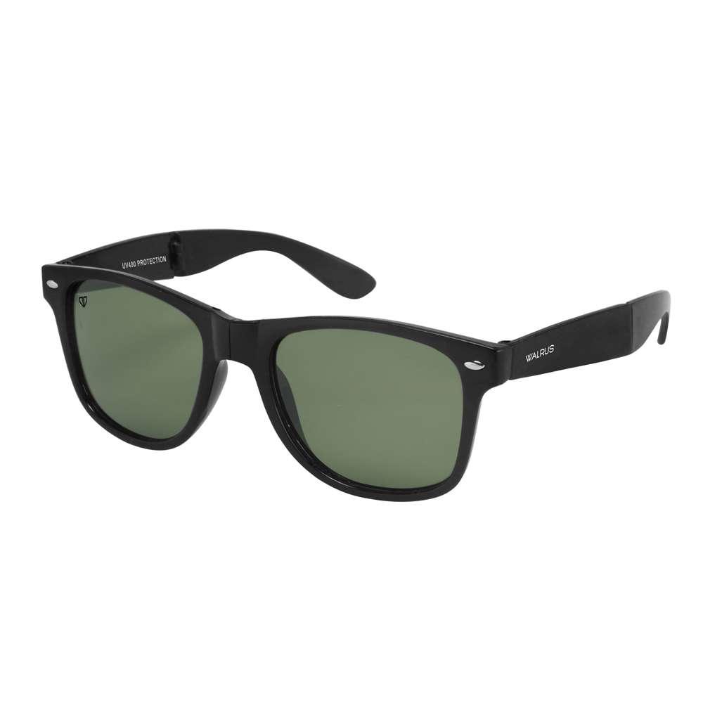 Walrus Flex Green Color Unisex Wayfarer Sunglass - WS-FLX-040202