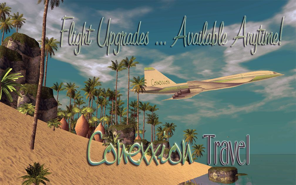 My Projects - Advertisement Land - Conexxion Travel Poster: Flight Upgrades Availability Announcement, Image 03