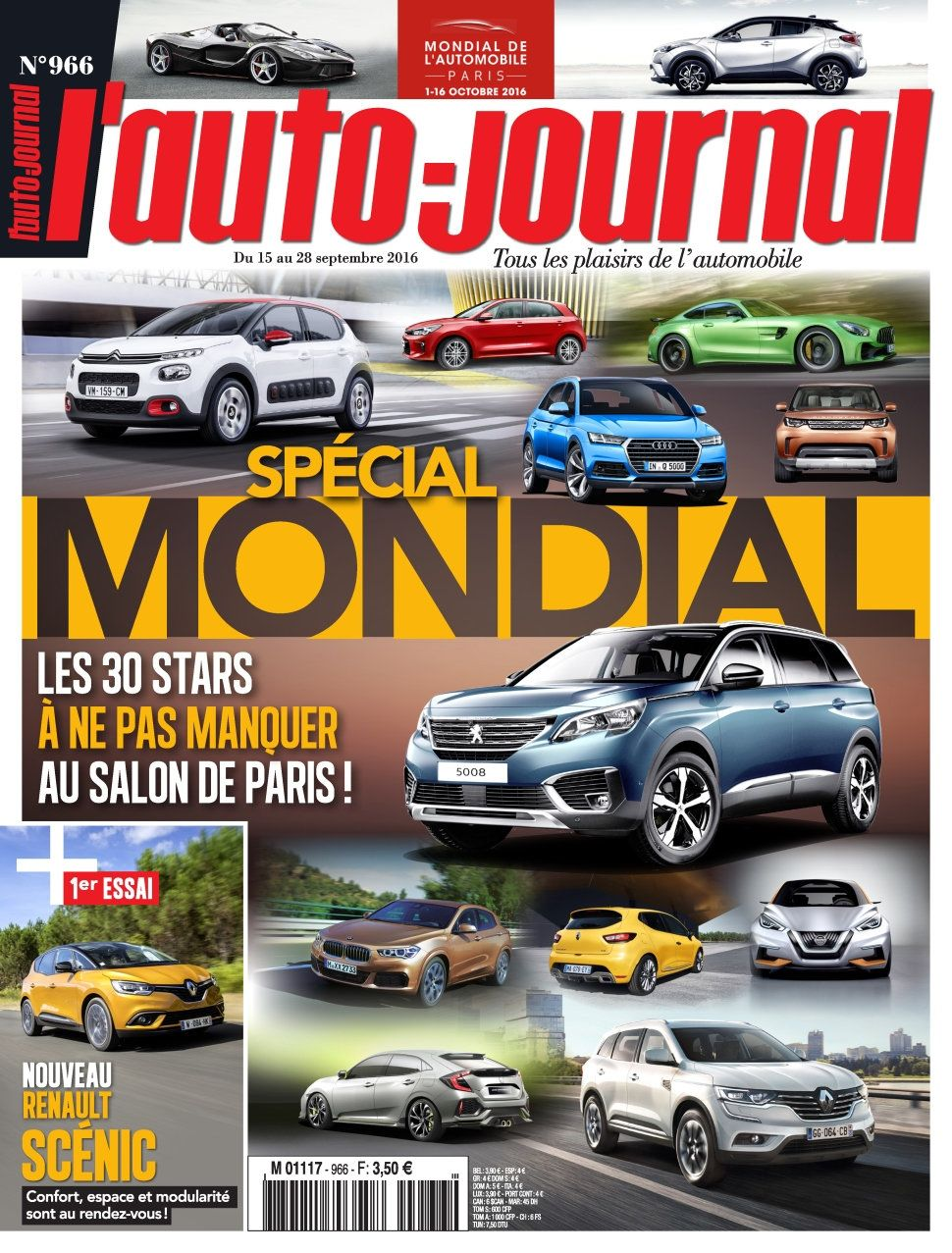 L'Auto-Journal 966 - 15 au 28 Septembre 2016